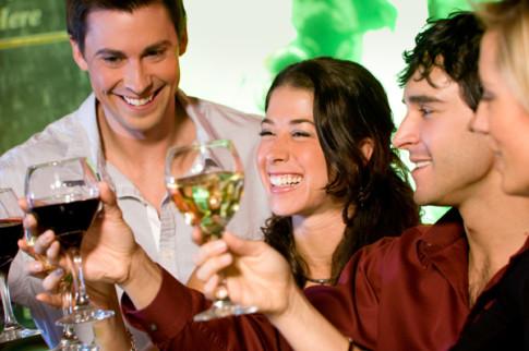 friends-having-wine-party