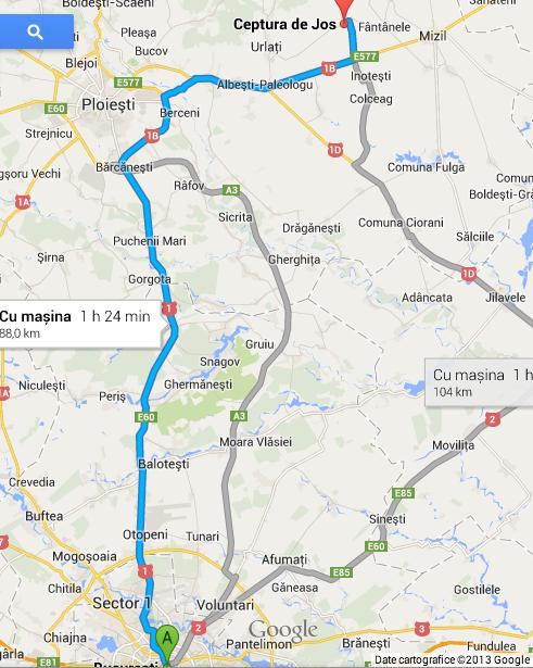 Harta Turul Ciclist al Cramelor Dealu Mare