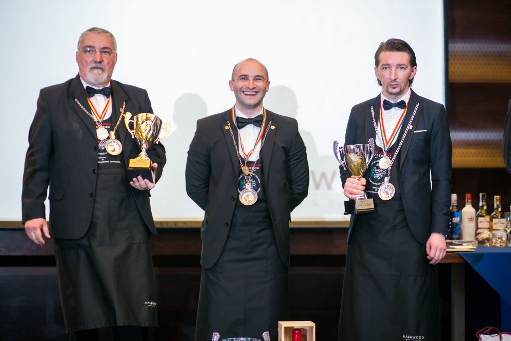 Cei trei finalisti ai concursului Trofeul Someleriei