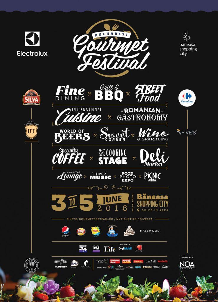 Bucharest Gurmet Festival Poster