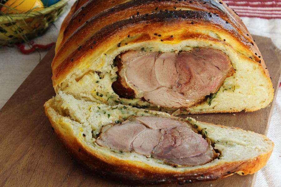 Pulpa de porc coapta in pâine @lauralaurentiu