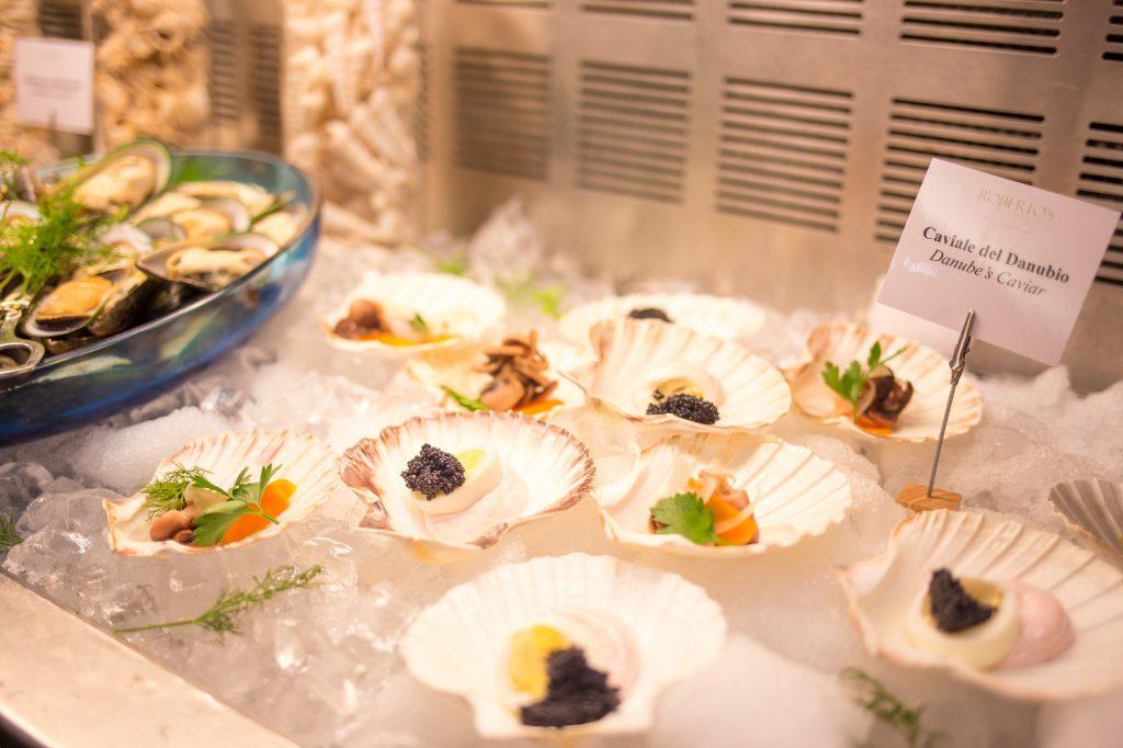 Hilton Brunch-caviar Danube