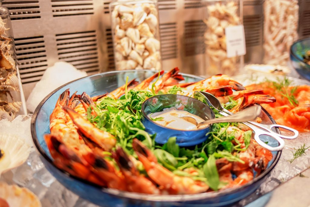 Hilton Brunch-gamberi-giant prawns
