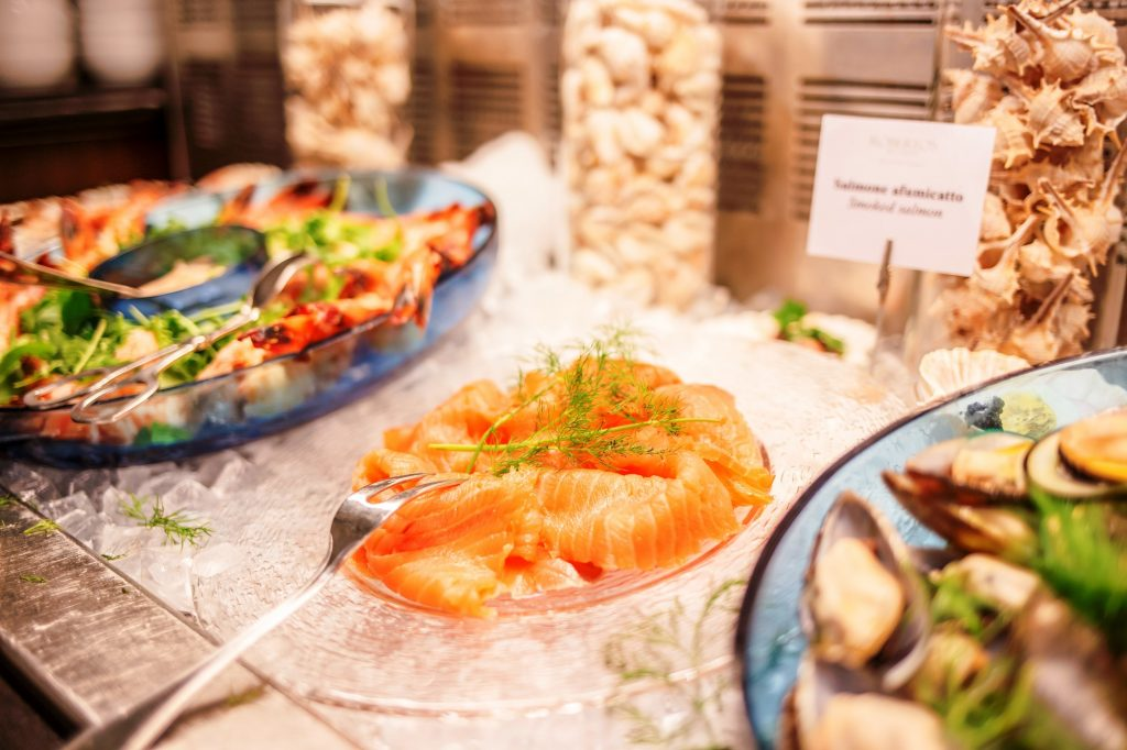 Hilton Brunch-smoked fish