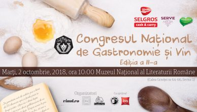 Cea de-a 2-a ediția a Congresului Național de Gastronomie și Vin are loc în 2 octombrie 2018. Organizatori: Cezar Ioan (Vinul.Ro), Cosmin Dragomir (Gastroart.ro) și Chef Nico Lontras (Rare Foods Services)