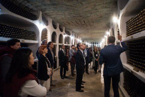 vizita la Cricova cu delegatia conferinta globala turism viticol UNWTO Chisinau