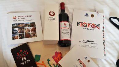 Pachetul de bun venit UNWTO conferinta globala turism viticol