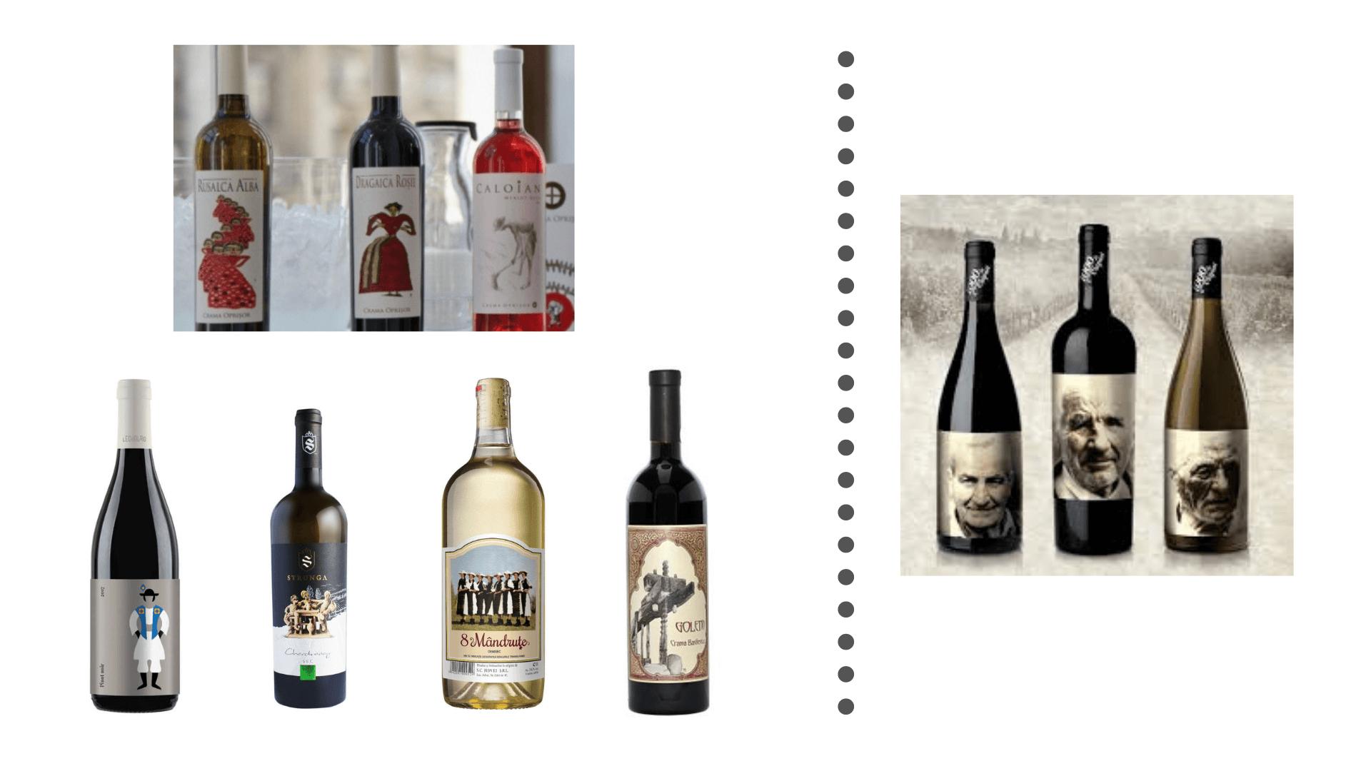 Viata satului etichete vin